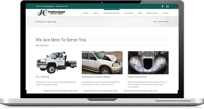 Collision auto repair jc auto logan ut for Jc motors used cars
